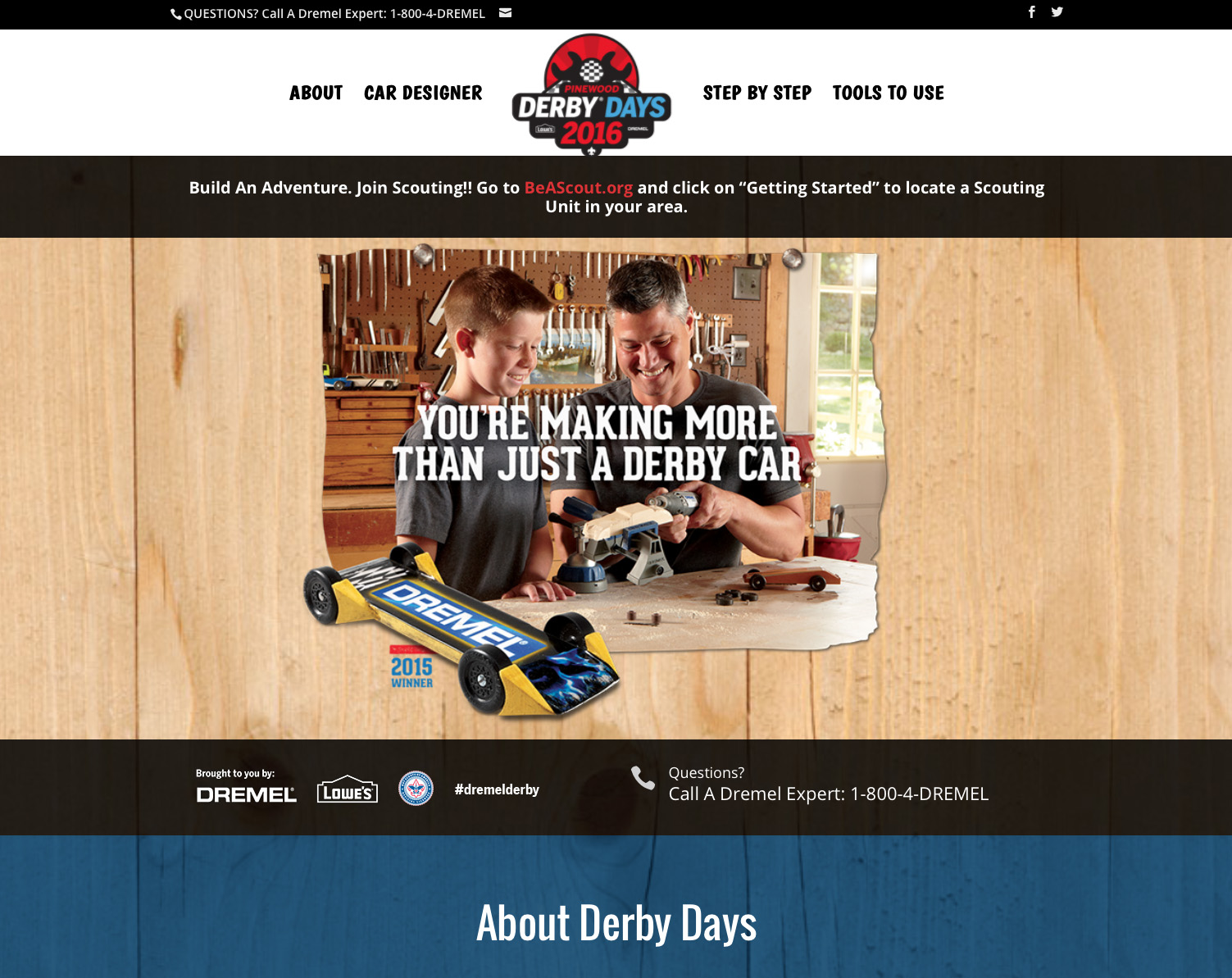 Dremel Derby Days Microsite